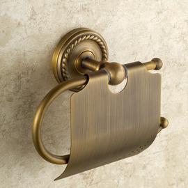 Golden Antique Brass Vintage Toilet Paper Holder