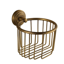 MZ Gold Antique Brushed Brass Wall Mounted Toilet Paper Holder