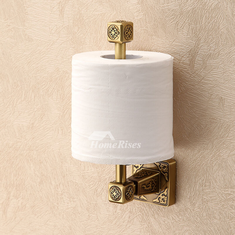 LTJ High End Polished Brass Gold Wall Mounted Toilet Paper Holder