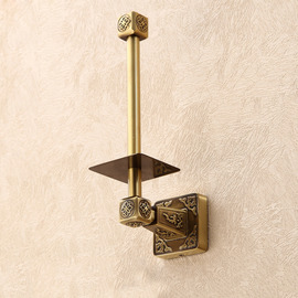 Vintage Antique Bronze Brown Toilet Paper Holder