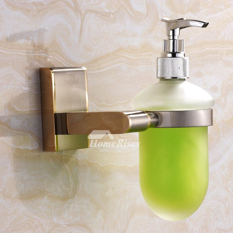 Golden Nickel Brushed Modern Soap Dispensers