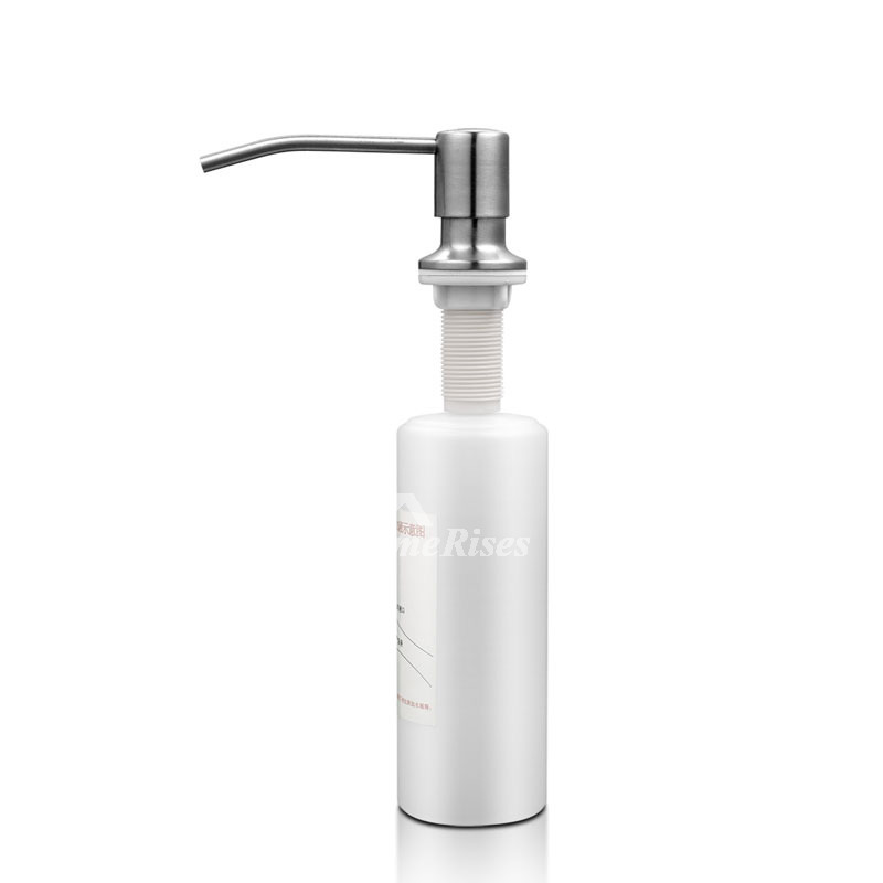 Modern Brushed Nickel Liquid Kitchen Sink Soap Dispenser