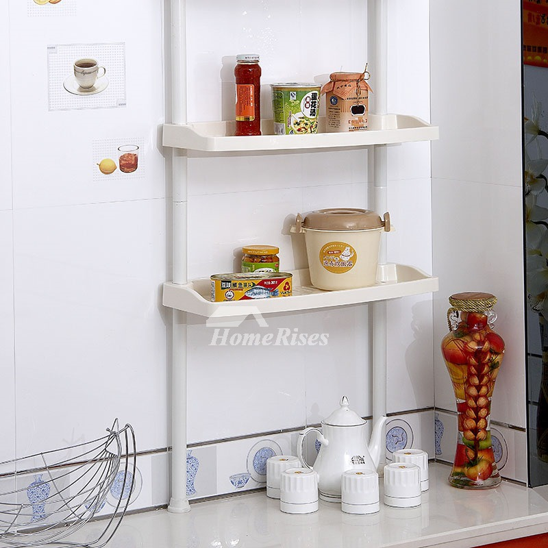 White Painting Modern Bathroom Shelves