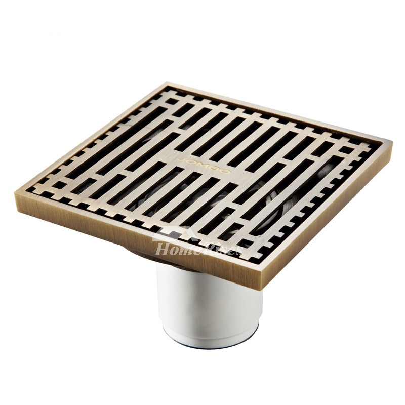 Modern Brushed Golden Shower Drains