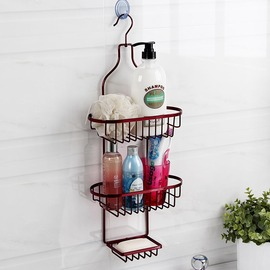 Discount Painting Red Bathroom Shelves
