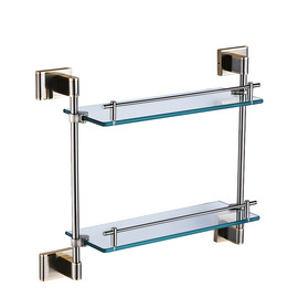 Chrome Silver Contemporary Bathroom Shelves