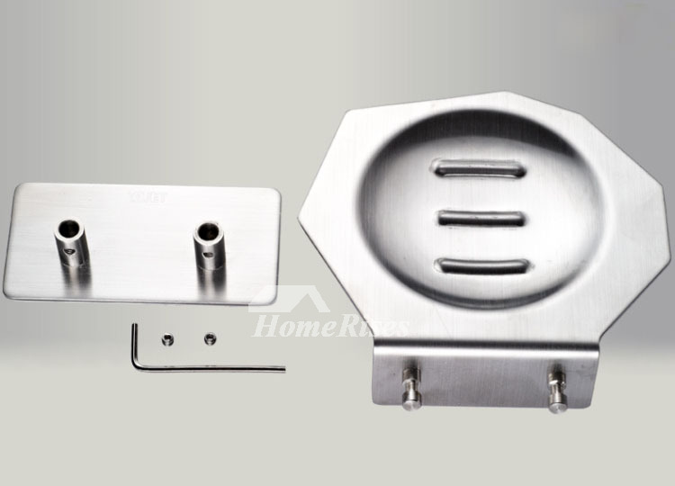 Modern Brushed Stainless Steel Shower Wall Mounted Soap Dish
