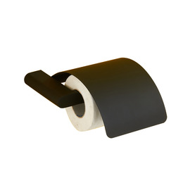 Simple Contemporary Black Stainless Steel Toilet Paper Holder