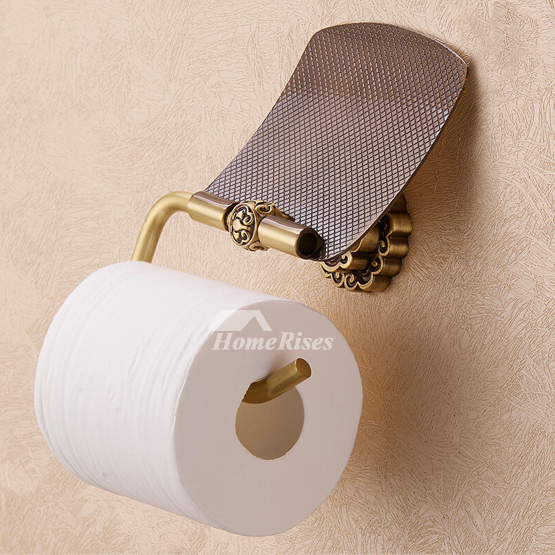 LTJ Luxury Gold Polished Brass Wall Mounted Toilet Paper Holder