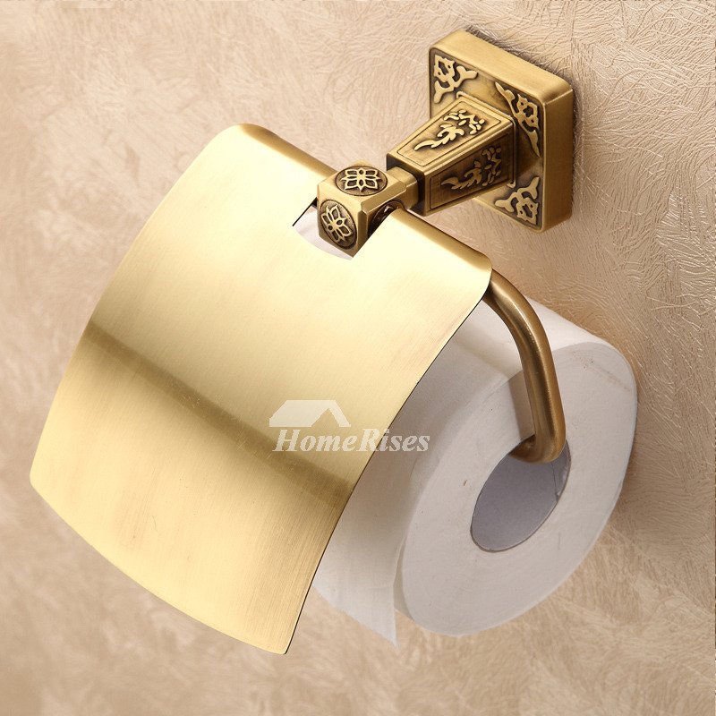 LTJ Vintage Polished Brass Wall Mounted Toilet Paper Holder
