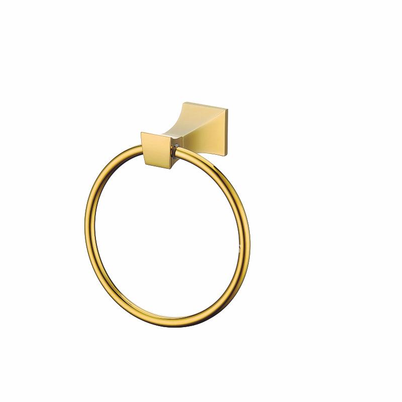 Polished Brass Luxury Golden Towel Ring Bathroom