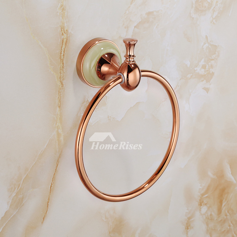 Vintage Round Shaped Rose Gold Towel Ring