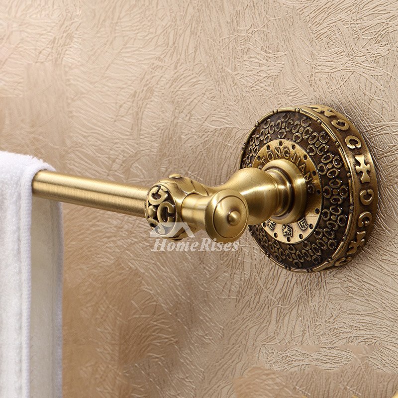 Antique Brass Wall Mount Bathroom Towel Bars
