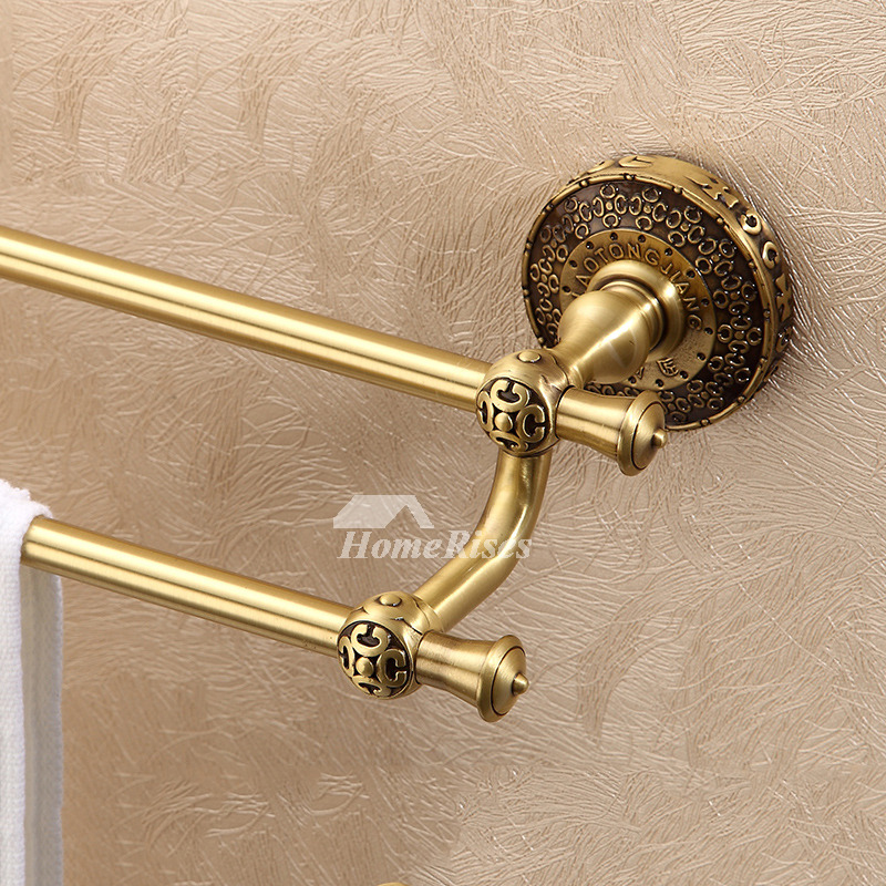 Gold Antique Brass vintage Towel Bars