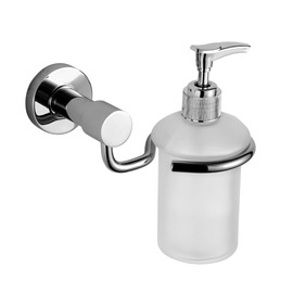 Modern Stainless Steel & Glass Wall Mount Liquid Soap Dispenser