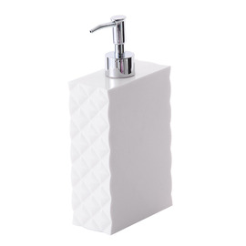 Simple Modern White Plastic Bathroom Liquid Soap Dispenser