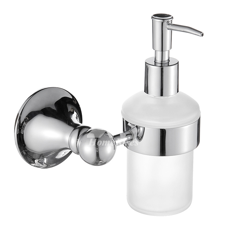 Exquisite Chrome Brass Copper Wall Mount Liquid Soap