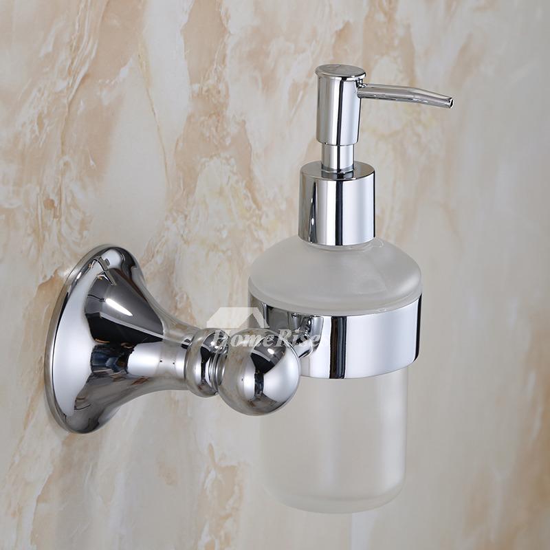 Exquisite Chrome Brass Copper Wall Mount Liquid Soap