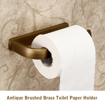 Antique Brushed Brass Brown | Black Wall Mounted Toilet Paper Holder