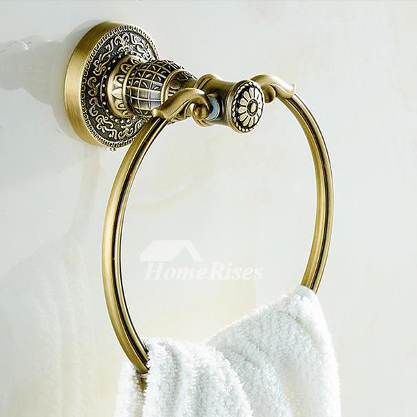 Vintage Gold Antique Brass Towel Ring Bathroom
