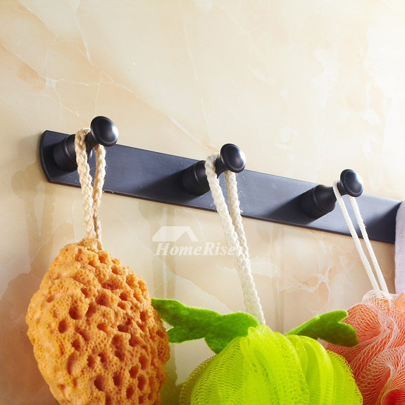Oil-rubbed Bronze Black Antique Robe Hooks
