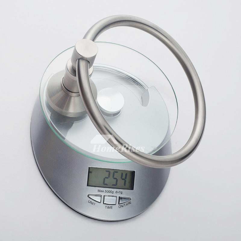 modern towel ring. Nickel Brushed Silver Modern Towel Ring R