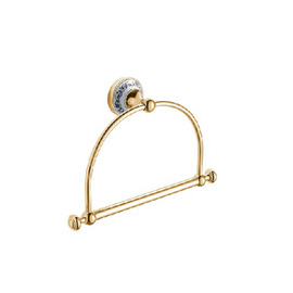 Vintage Polished Brass Golden Towel Ring