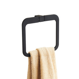 Black Modern Painting Towel Ring
