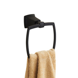 Oil-rubbed Bronze Designer Black Towel Ring