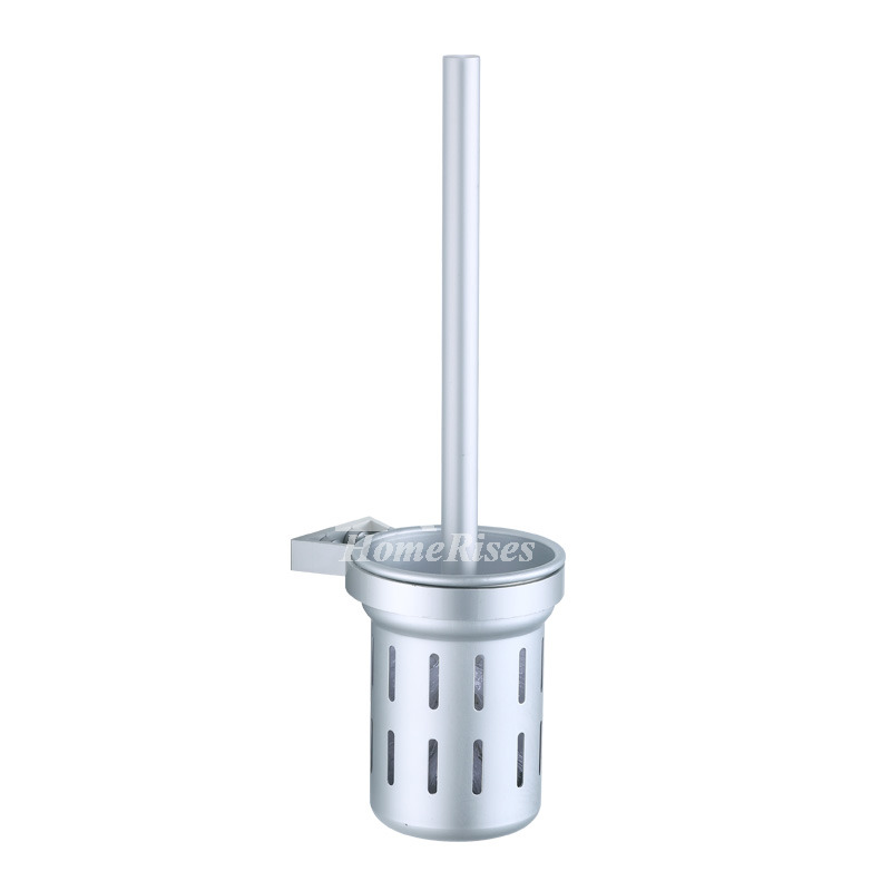 Nickel Brushed Silver On Sale Toilet Brush Holder