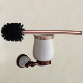 Rose Gold Pink Antique Toilet Brush Holder