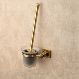 Golden Antique Bronze Vintage Toilet Brush Holder