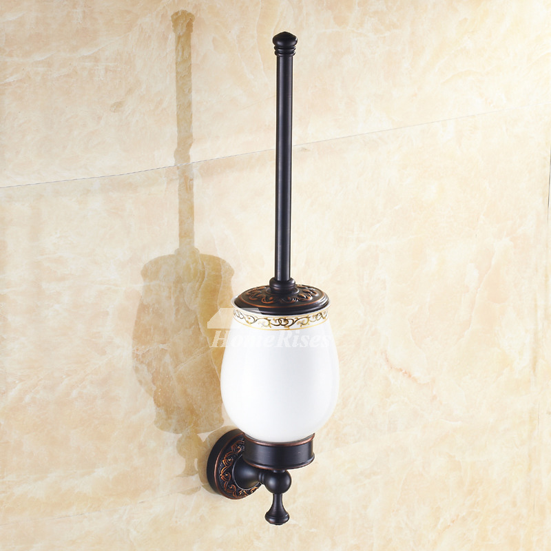 Oil-rubbed Bronze Vintage Black Toilet Brush Holder