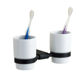 Modern Painting Black Toothbrush Holder