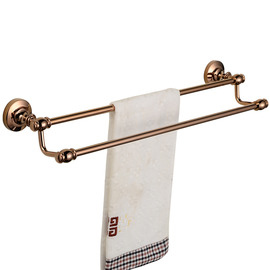 Vintage Rose Gold Pink Towel Bars
