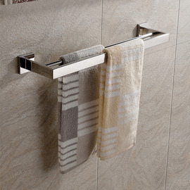 Polished Nickel Silver Modern Towel Bars