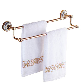 Antique Rose Gold Pink Towel Bars