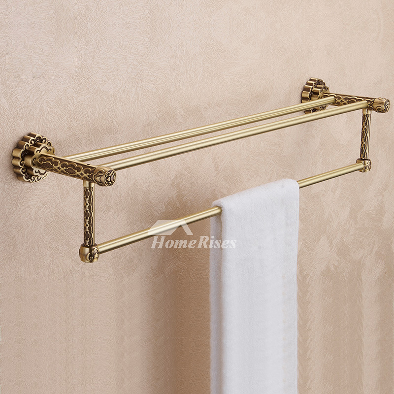 Antique Brass Brown vintage Towel Bars