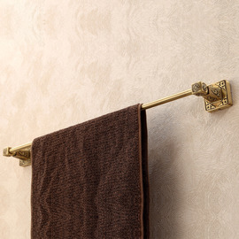 Vintage Antique Brass Brown Towel Bars