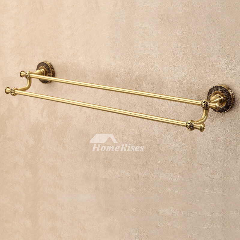 Brown Antique Brass Antique Towel Bars