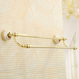 Antique Polished Brass Golden Towel Bars