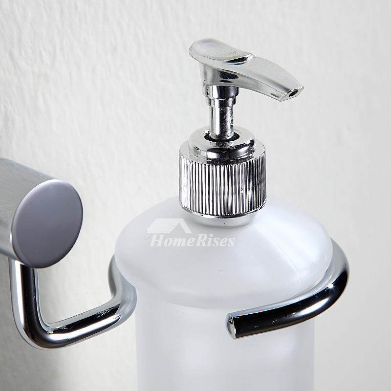 Silver Modern Polished Nickel Soap Dispensers