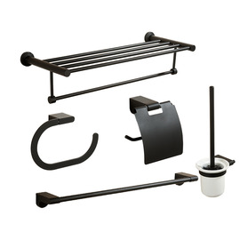 modern Painting Black Bathroom Accessories Sets