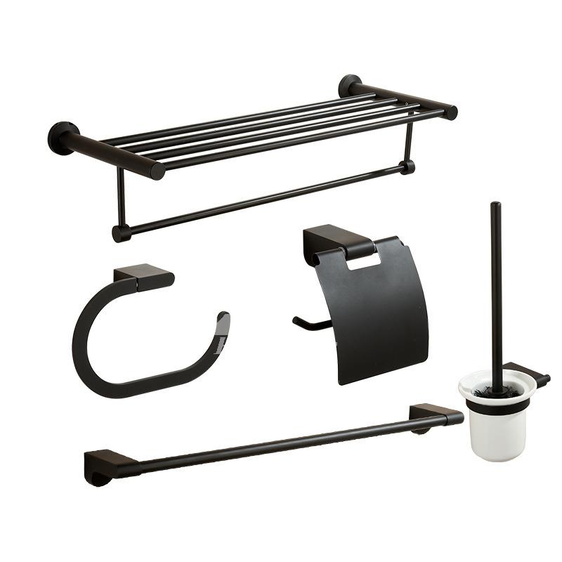 modern painting black bathroom accessories sets
