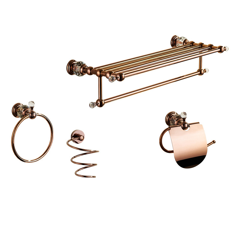 Vintage Rose Gold Pink Bathroom Accessories Sets