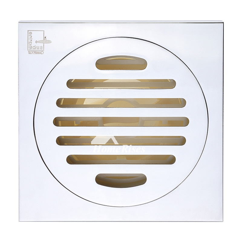 Cheap Modern Polished Chrome Square Brass Shower Floor Drain
