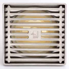Deodorant Stainless Steel Brushed Square Shower Floor Drain On Sale