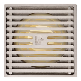 Qst-50 Automatic Sealing Matte Silver Brass Square Shower Floor Drain