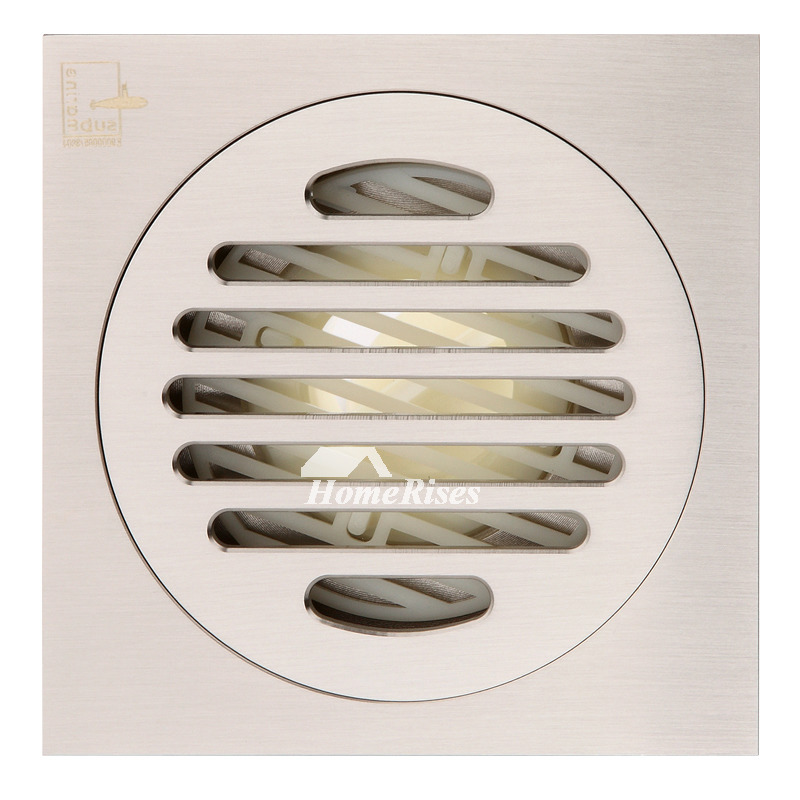 Best Matte Silver Brushed Chrome Square Shower Floor Drain