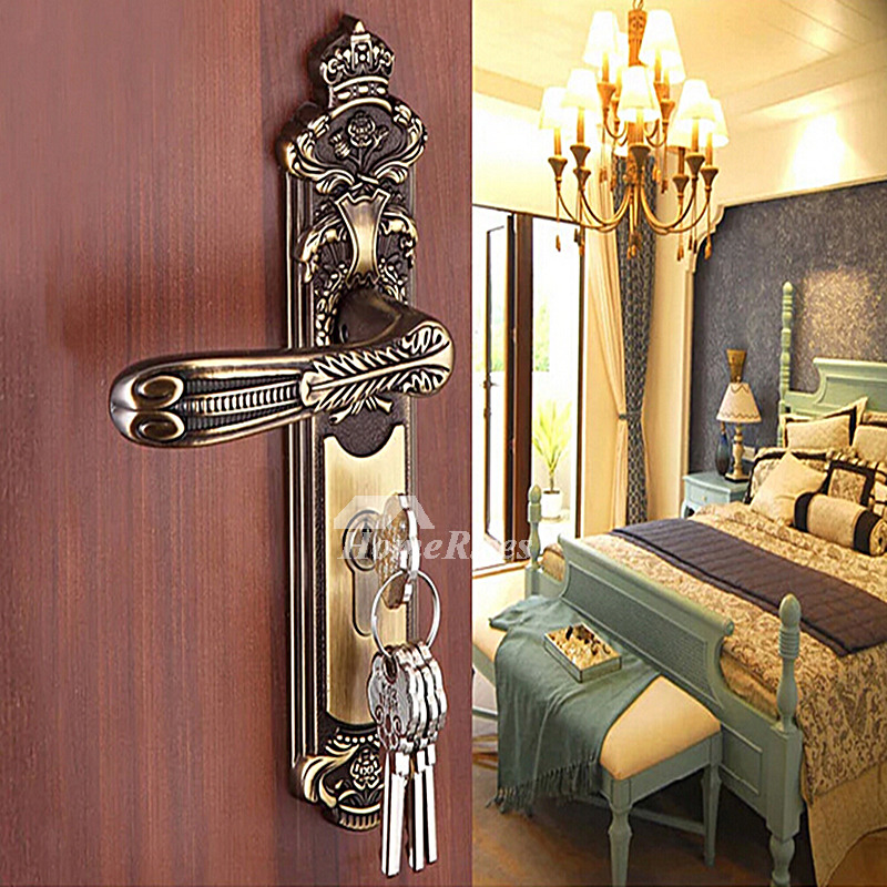 Best Luxury Black Carved Antique Brass Indoor Outdoor Door
